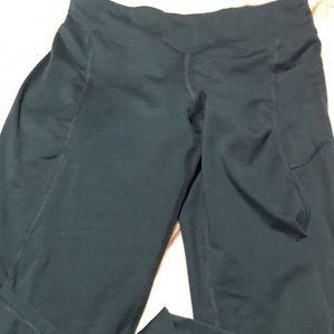 dark teal athletic leggings